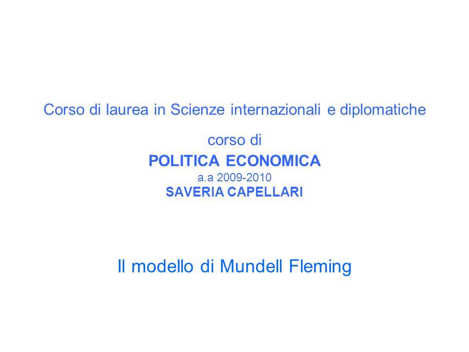 Il modello di Mundell Fleming