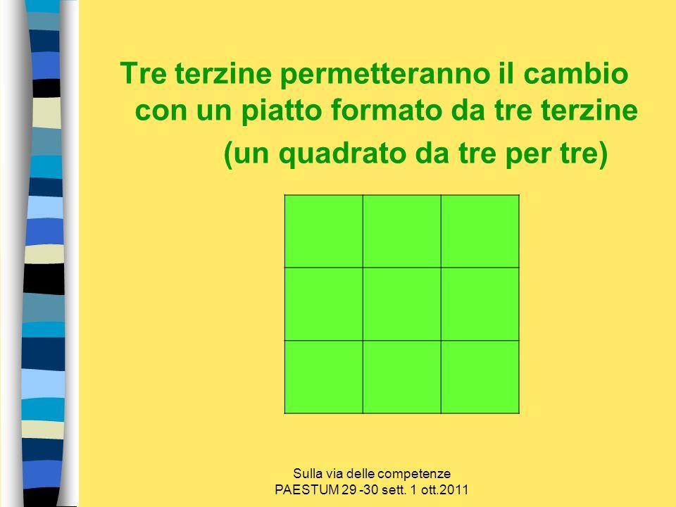 (un quadrato da tre per tre)