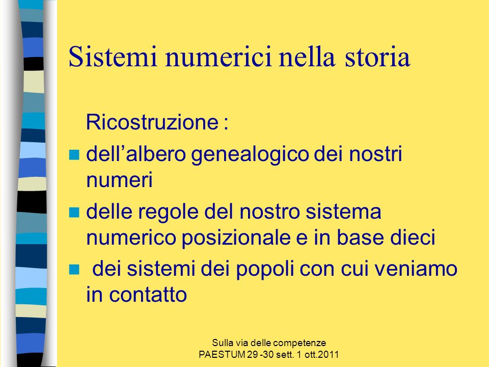 Sistemi numerici nella storia