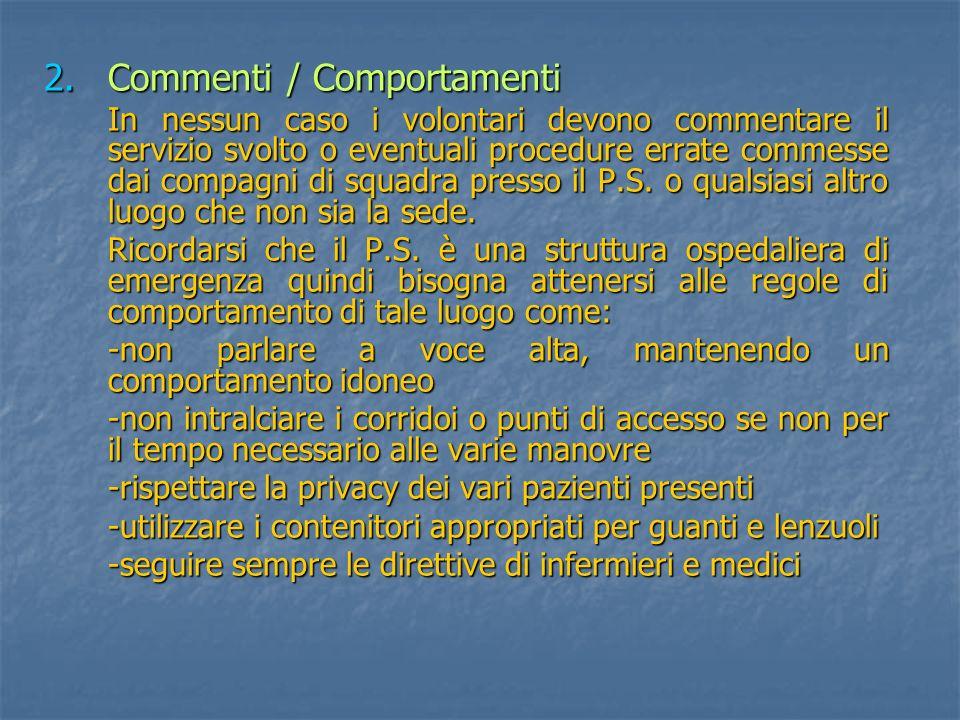 Commenti / Comportamenti