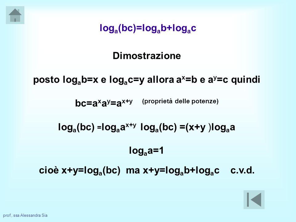 loga(bc)=logab+logac