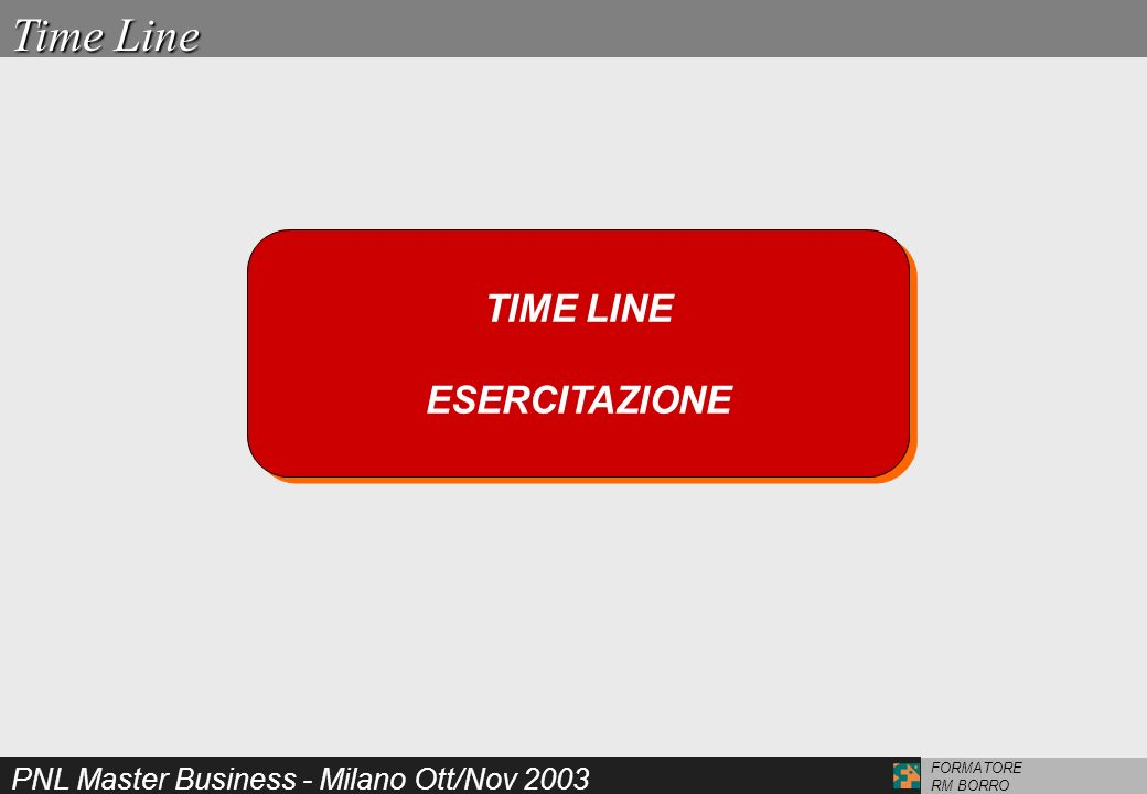 Time Line TIME LINE ESERCITAZIONE