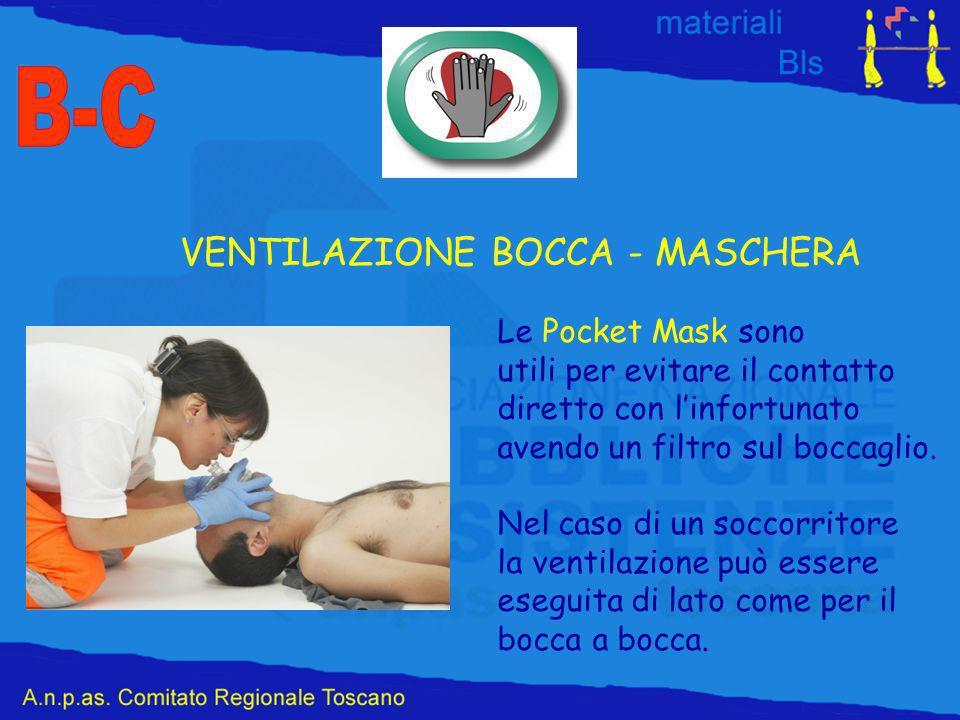B-C VENTILAZIONE BOCCA - MASCHERA Le Pocket Mask sono