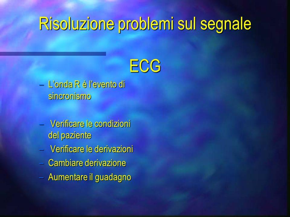 Risoluzione problemi sul segnale ECG