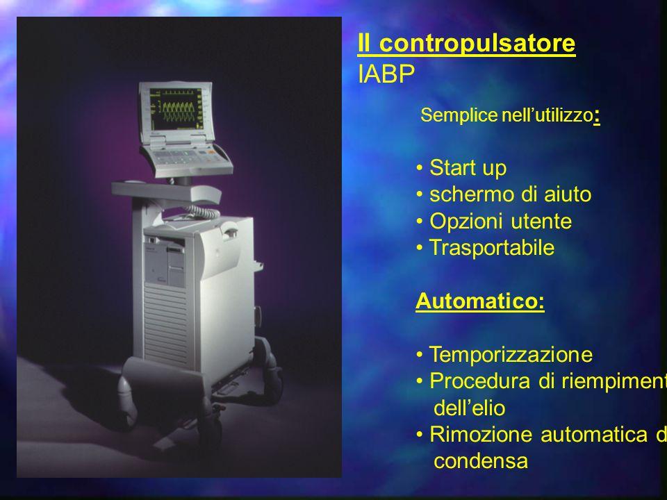 Il contropulsatore IABP • Start up • schermo di aiuto • Opzioni utente