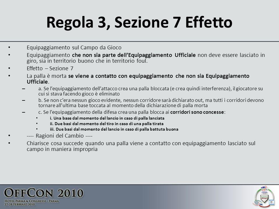 Regola 3, Sezione 7 Effetto