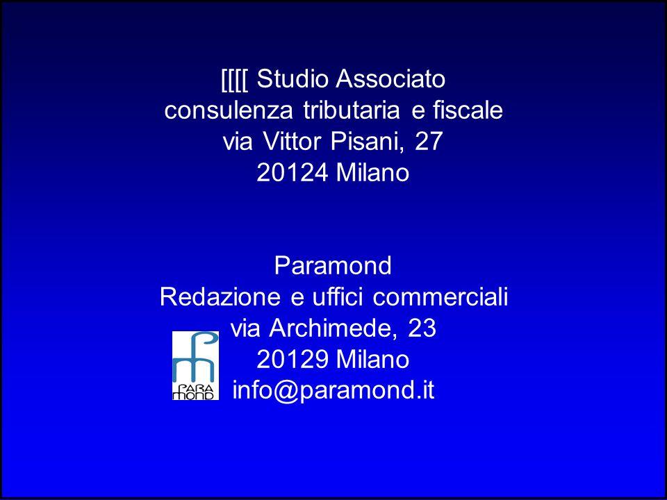 consulenza tributaria e fiscale via Vittor Pisani, 27 20124 Milano