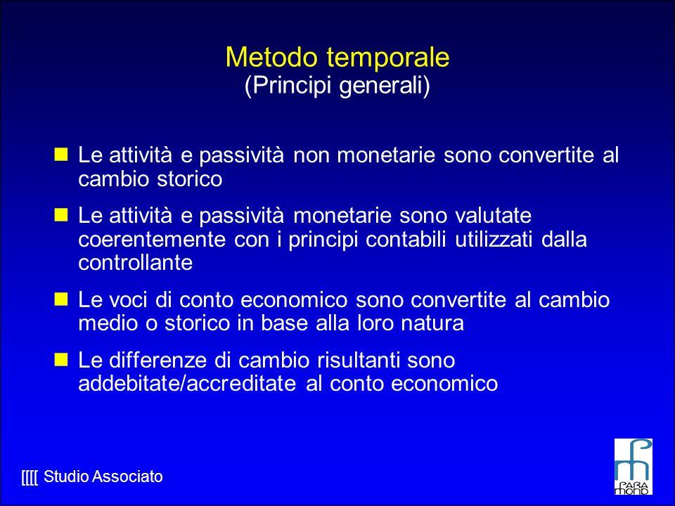 Metodo temporale (Principi generali)