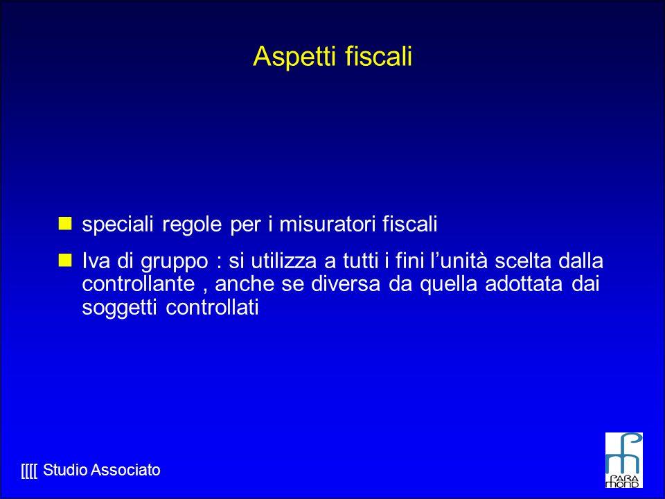 Aspetti fiscali speciali regole per i misuratori fiscali