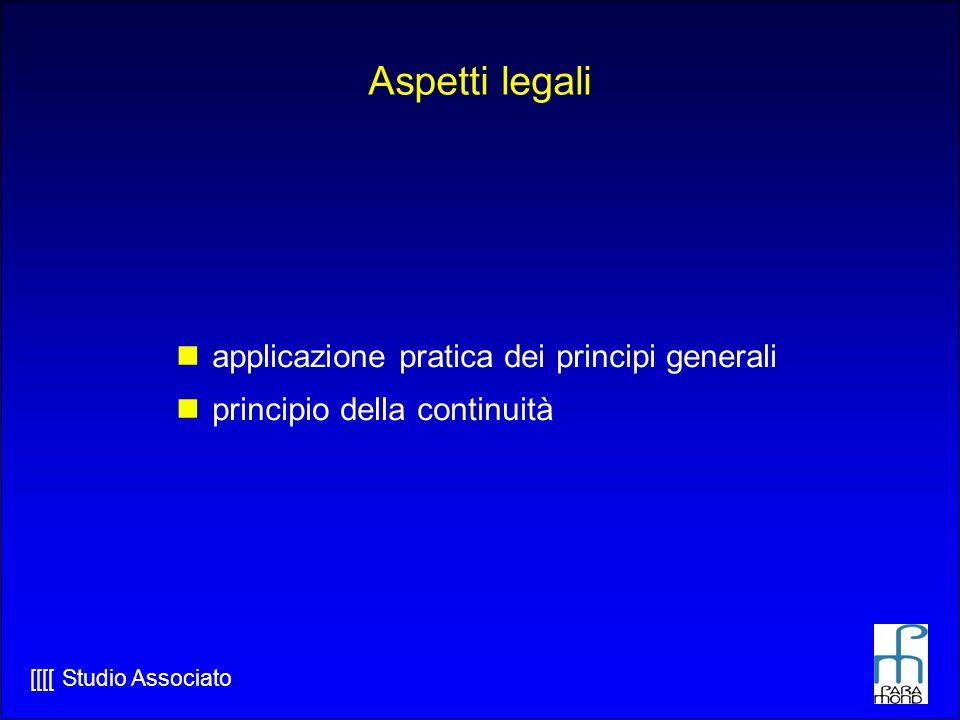 Aspetti legali applicazione pratica dei principi generali