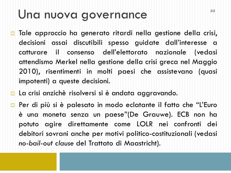 Una nuova governance
