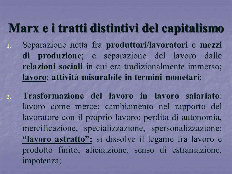 Marx e i tratti distintivi del capitalismo