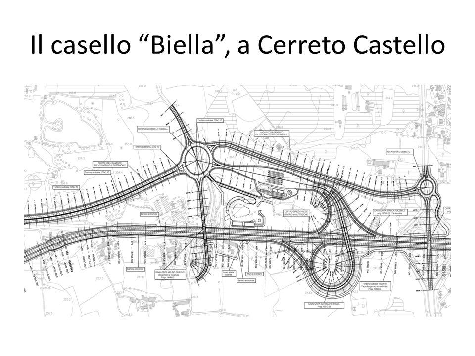 Il casello Biella , a Cerreto Castello