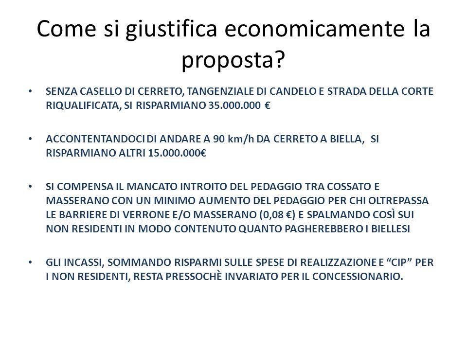 Come si giustifica economicamente la proposta