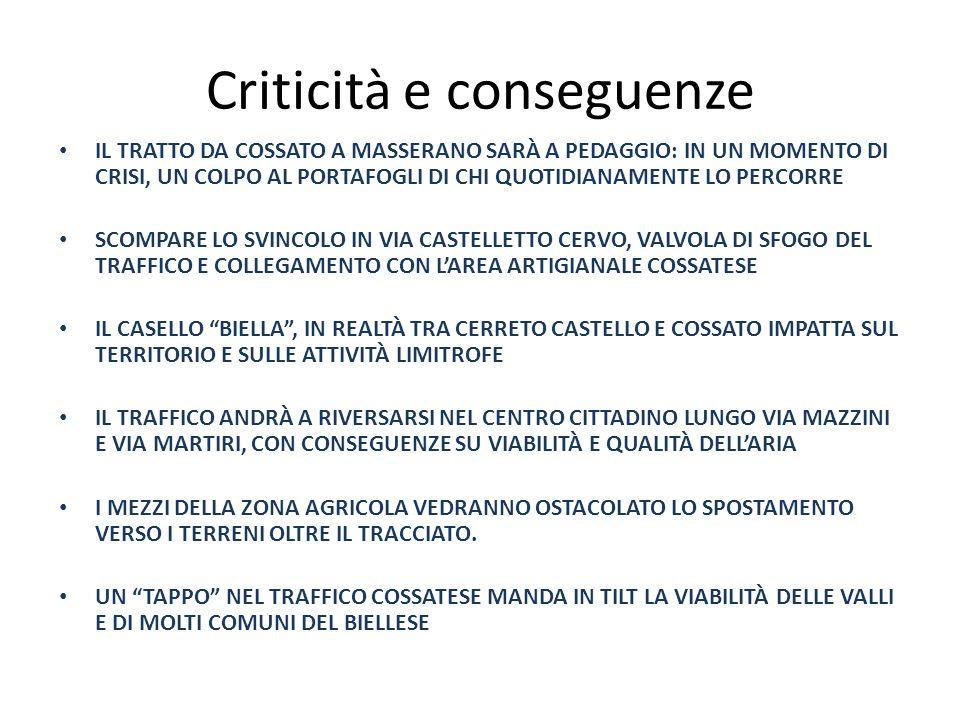 Criticità e conseguenze