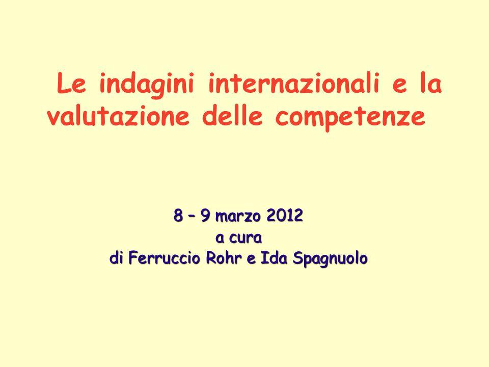 Le indagini internazionali e la valutazione delle competenze