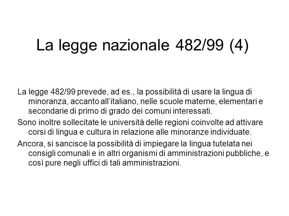La legge nazionale 482/99 (4)