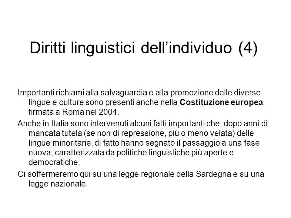 Diritti linguistici dell'individuo (4)