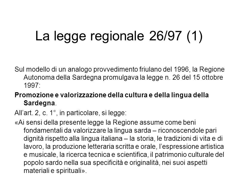 La legge regionale 26/97 (1)