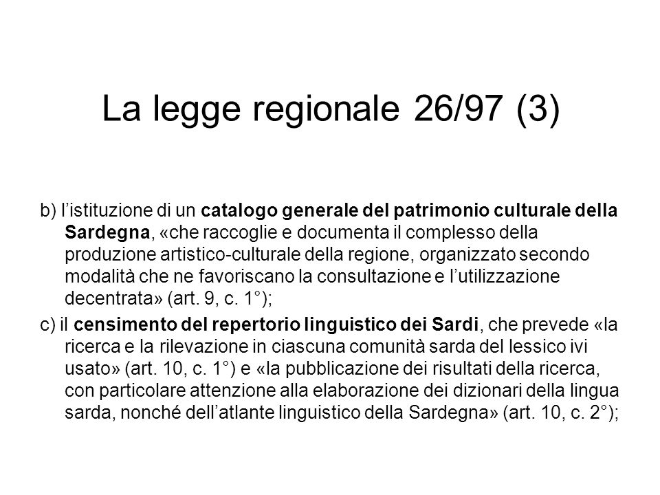 La legge regionale 26/97 (3)