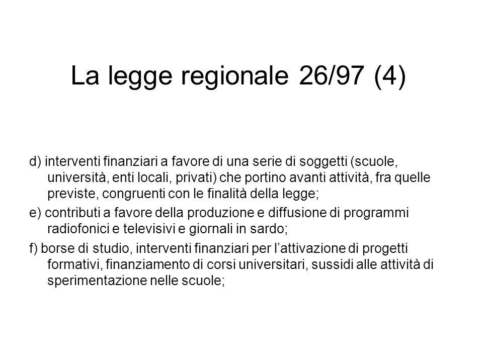 La legge regionale 26/97 (4)