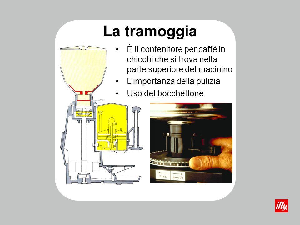 La tramoggia È il contenitore per caffé in chicchi che si trova nella parte superiore del macinino.