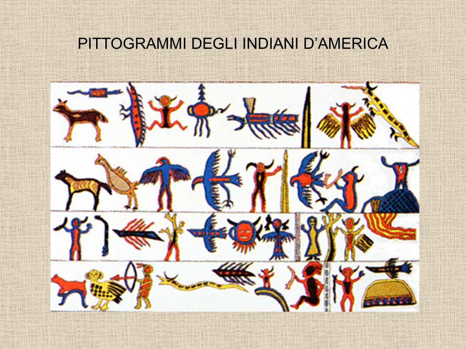 PITTOGRAMMI DEGLI INDIANI D'AMERICA