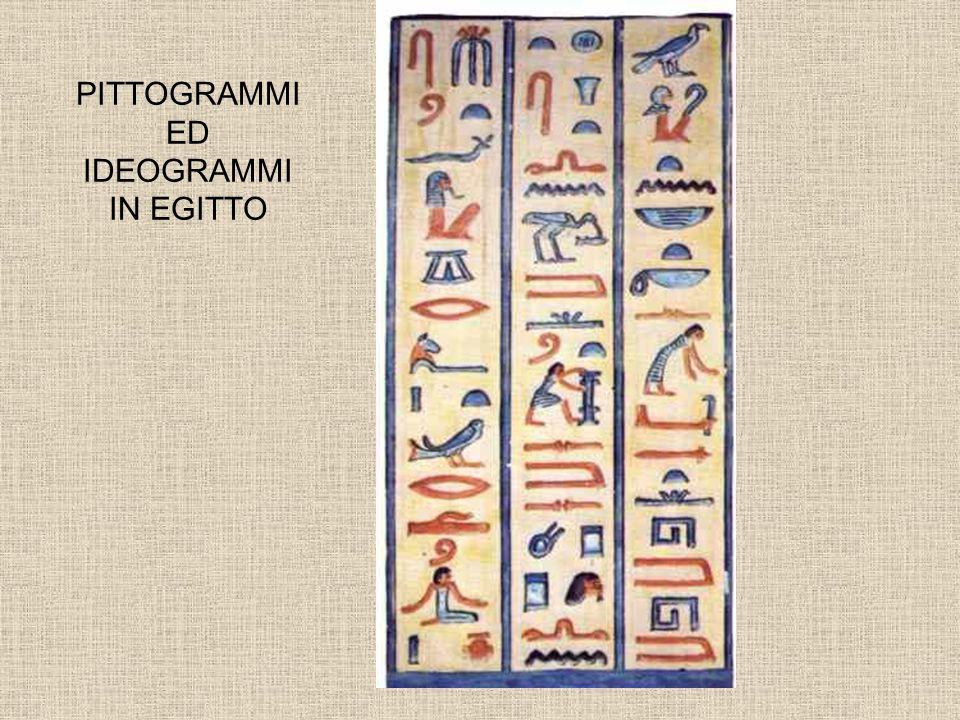 PITTOGRAMMI ED IDEOGRAMMI IN EGITTO
