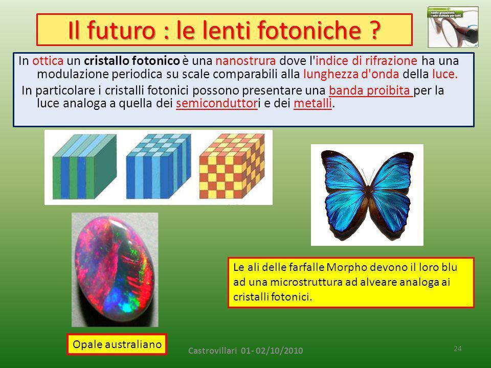 Il futuro : le lenti fotoniche