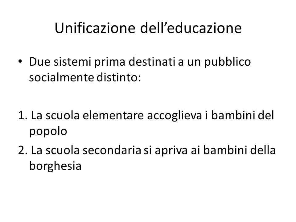 Unificazione dell'educazione