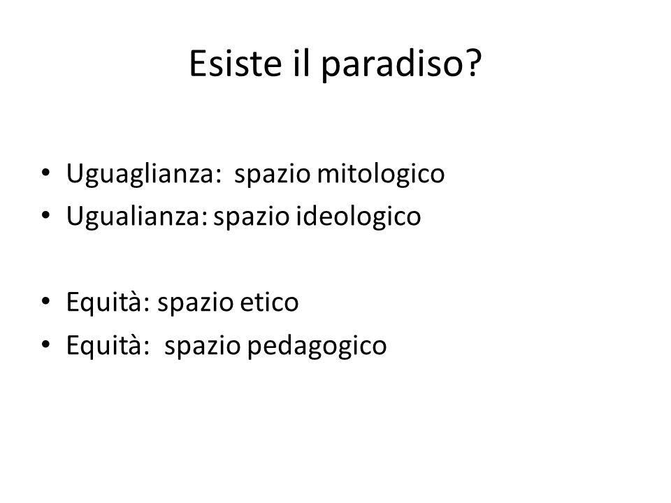 Esiste il paradiso Uguaglianza: spazio mitologico