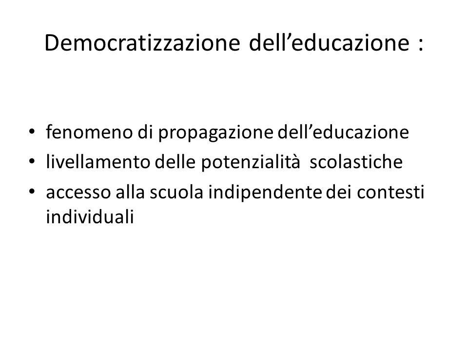 Democratizzazione dell'educazione :