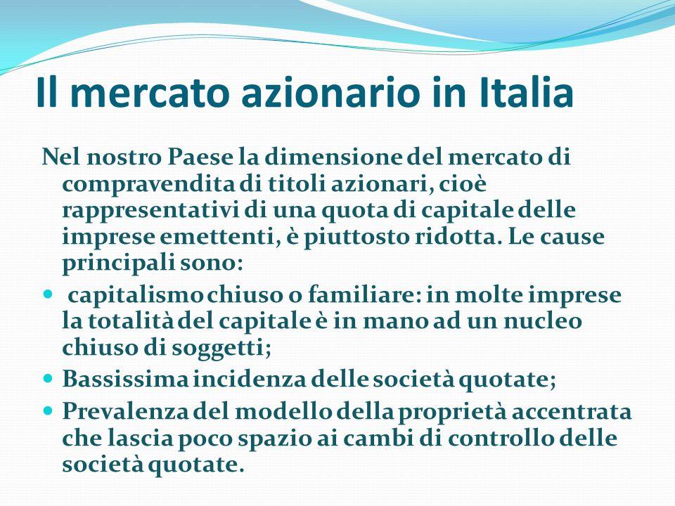 Il mercato azionario in Italia