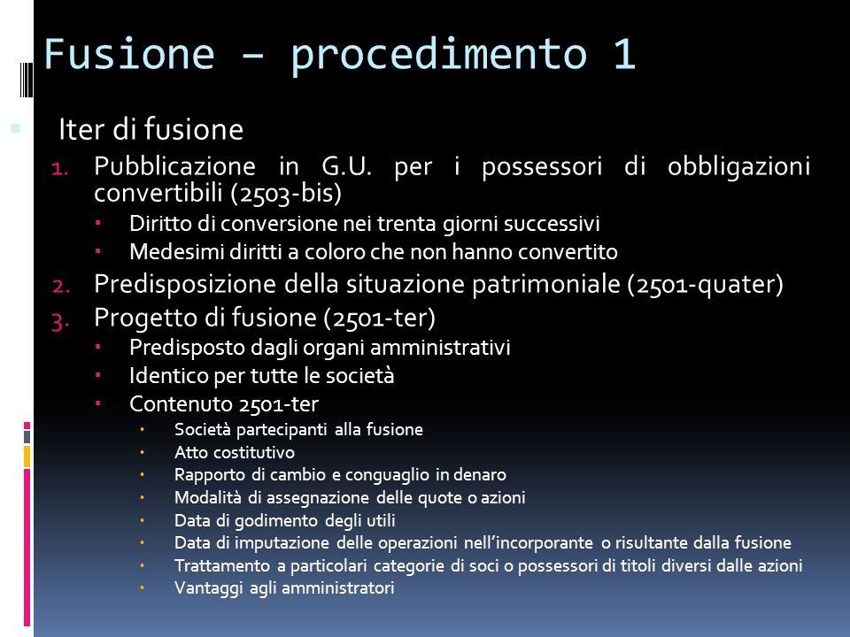 Fusione – procedimento 1