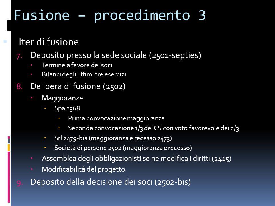 Fusione – procedimento 3