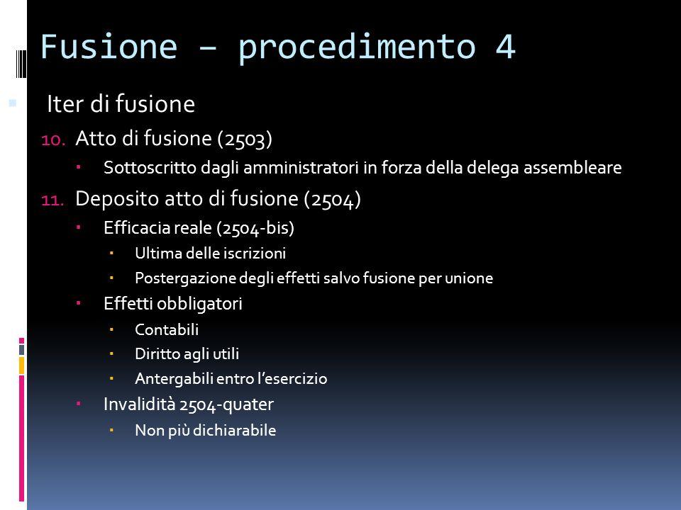 Fusione – procedimento 4