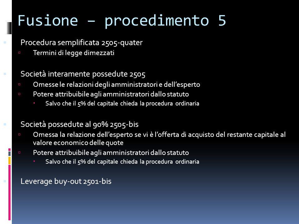 Fusione – procedimento 5