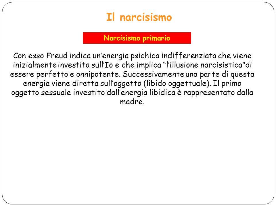 Il narcisismo Narcisismo primario.