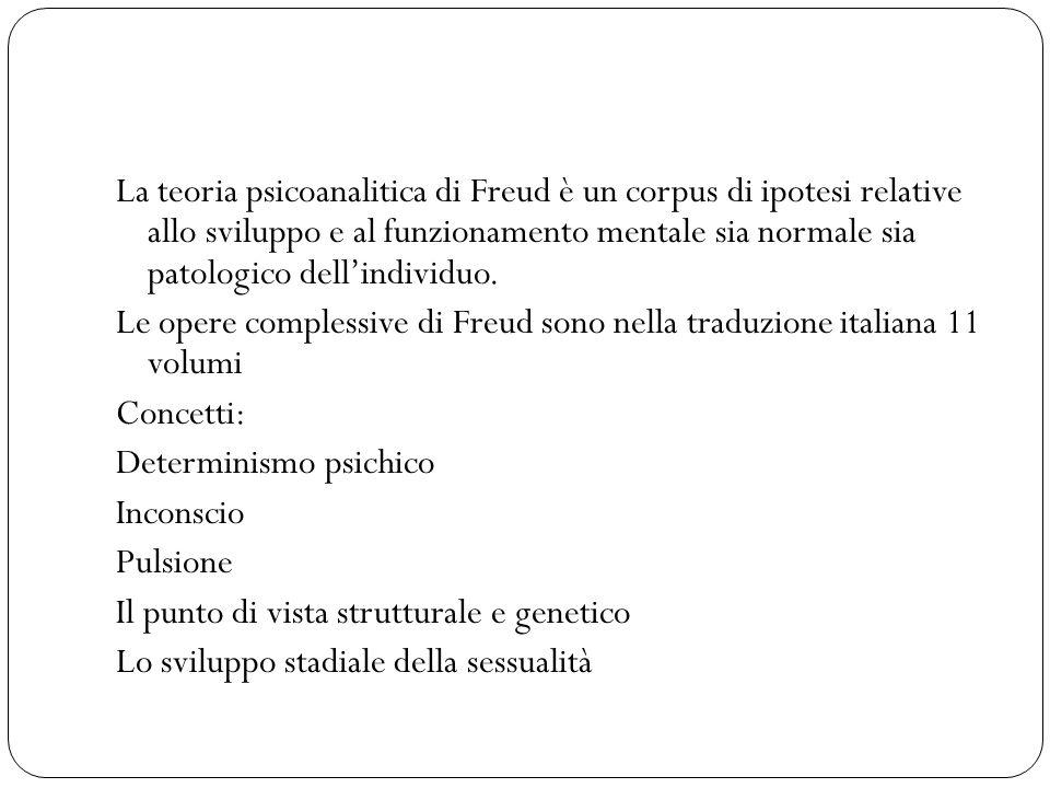 La teoria psicoanalitica di Freud è un corpus di ipotesi relative allo sviluppo e al funzionamento mentale sia normale sia patologico dell'individuo.
