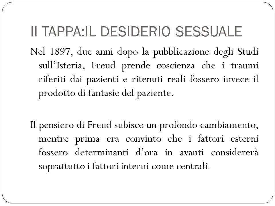 II TAPPA:IL DESIDERIO SESSUALE
