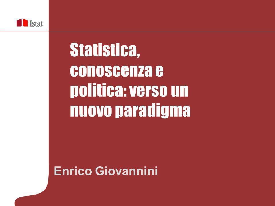 Statistica, conoscenza e politica: verso un nuovo paradigma