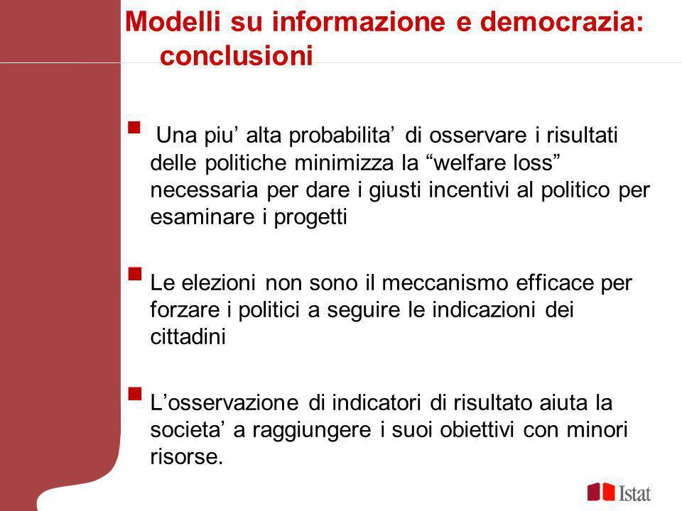 Modelli su informazione e democrazia: conclusioni