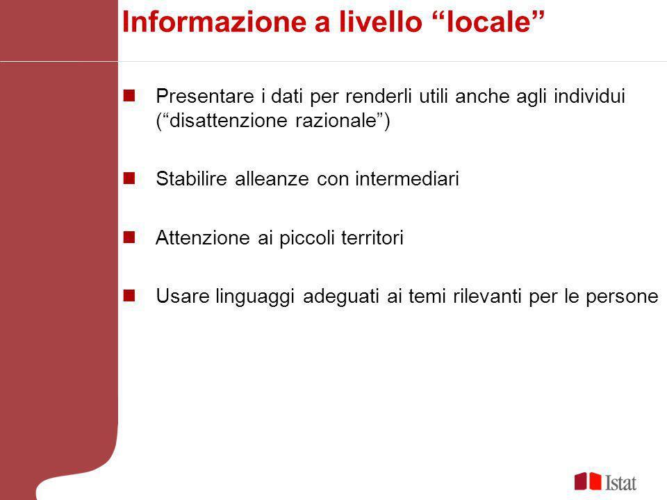 Informazione a livello locale