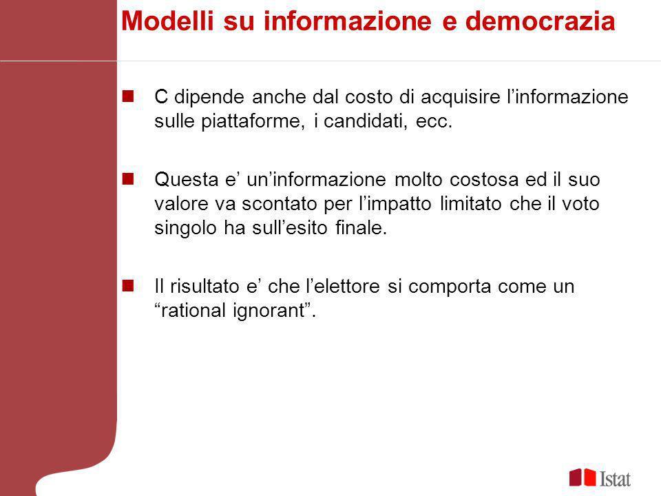 Modelli su informazione e democrazia