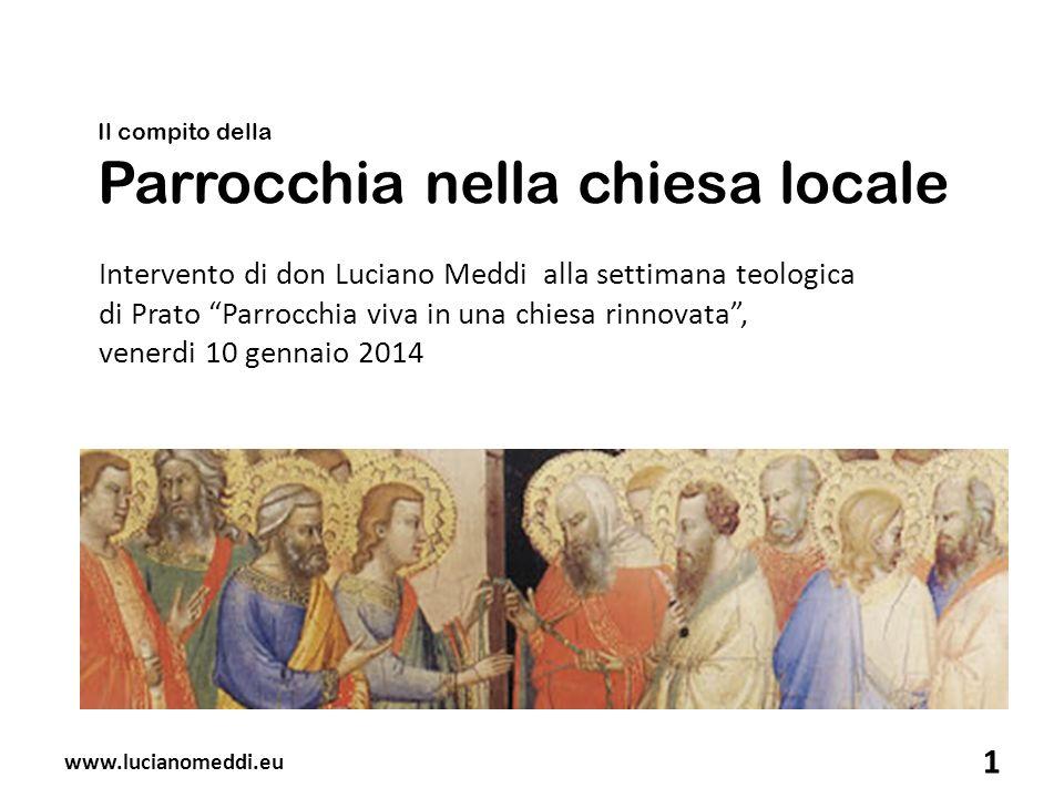 Il compito della Parrocchia nella chiesa locale
