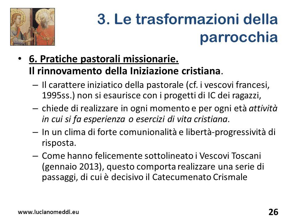 3. Le trasformazioni della parrocchia