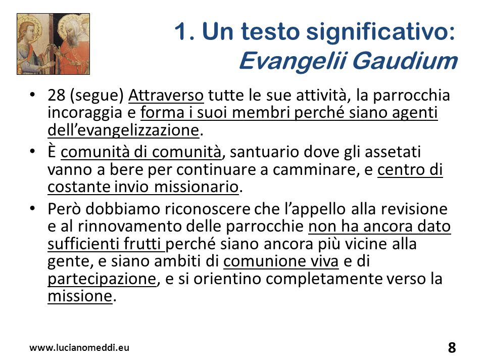 1. Un testo significativo: Evangelii Gaudium