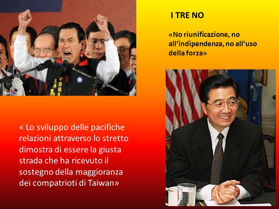I TRE NO «No riunificazione, no all'indipendenza, no all'uso della forza»