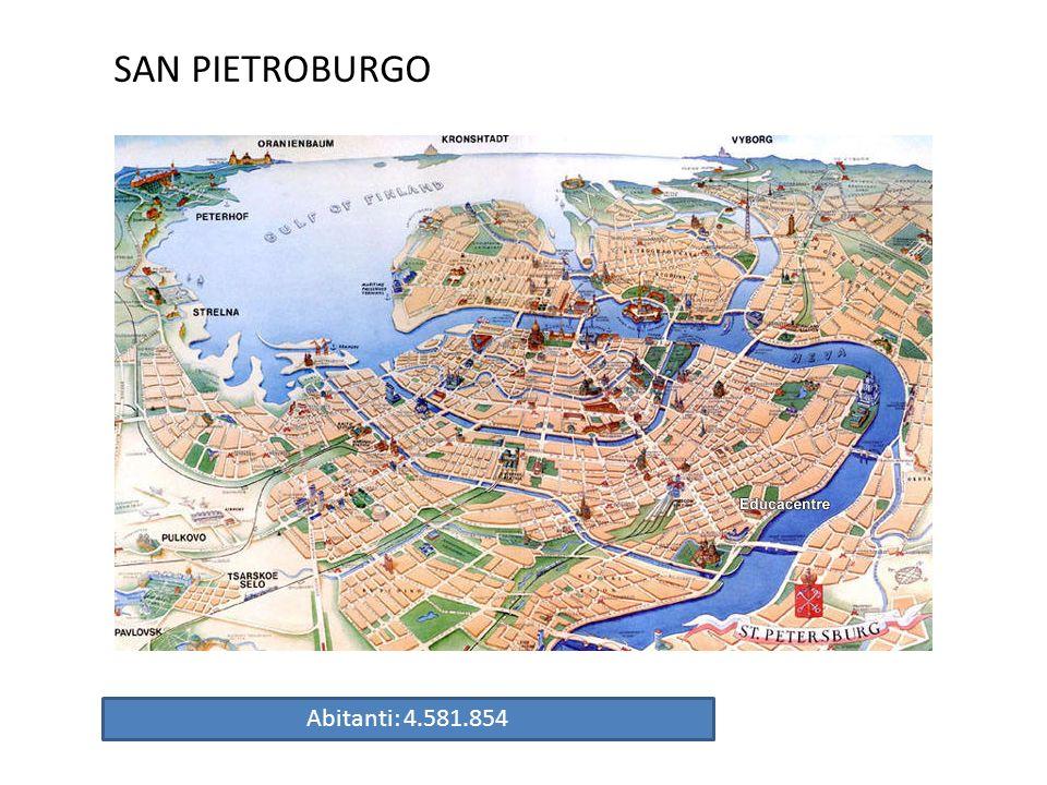 SAN PIETROBURGO Abitanti: 4.581.854