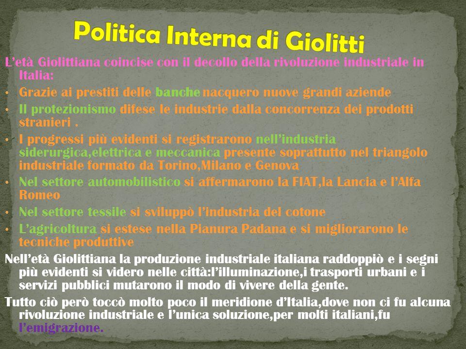 Politica Interna di Giolitti